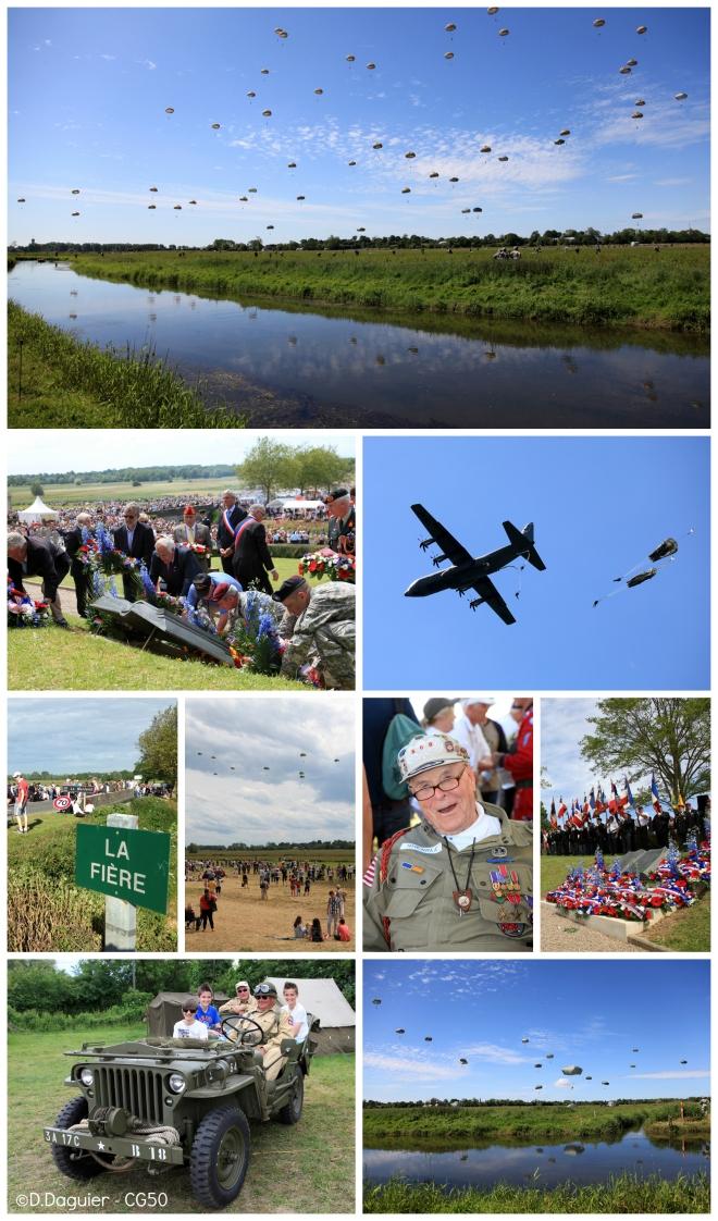 70eme anniversaire parachutages la fière