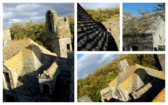 Les toits du châtau de Pirou